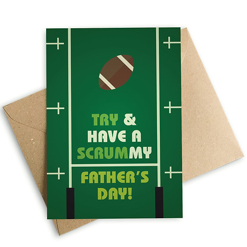 Rugby Scrummy Father's Day Card