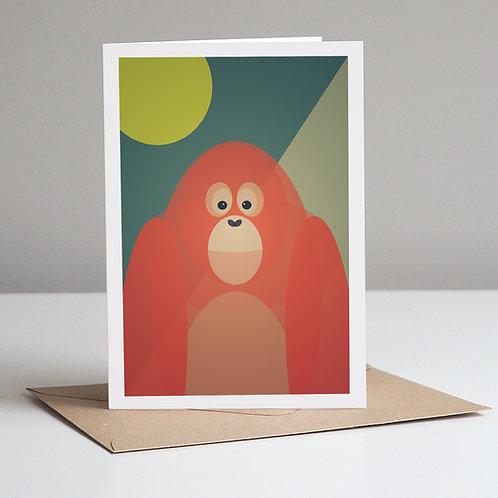 Mid Century Orangutan Card