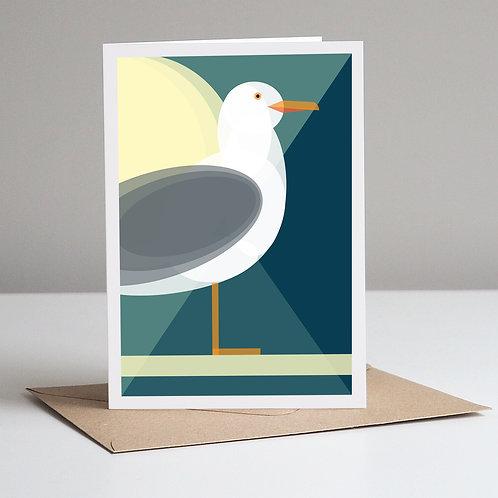 Mid Century Seagull Card