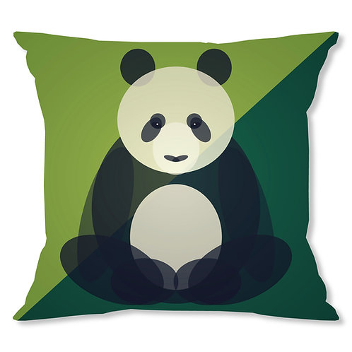 Mid Century Panda Cushion