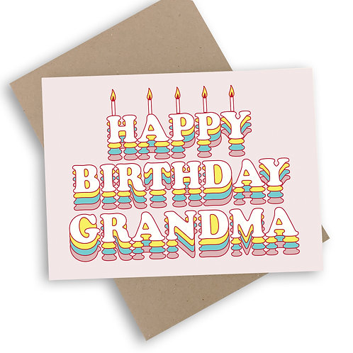 Happy Birthday Grandma Card