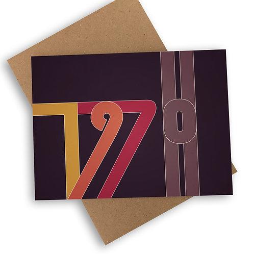 1970 - Mid Century Style Card