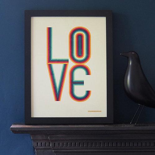 Big Love 70's Print