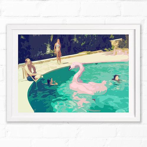 Pink Swan Print