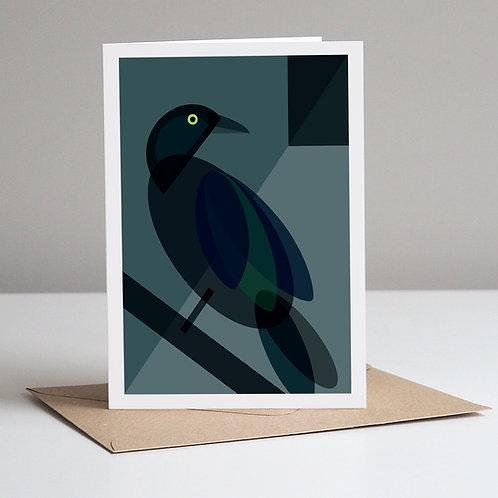 Mid Century Bird Greetings Card