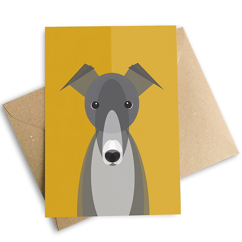 Greyhound Greetings Card
