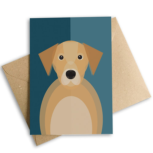 Golden Labrador Greetings Card