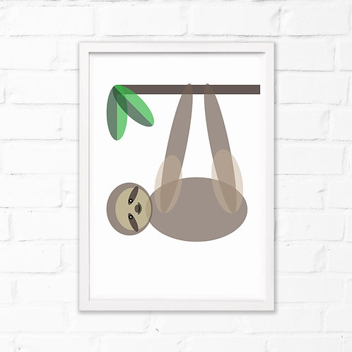 Sloth Children's Print