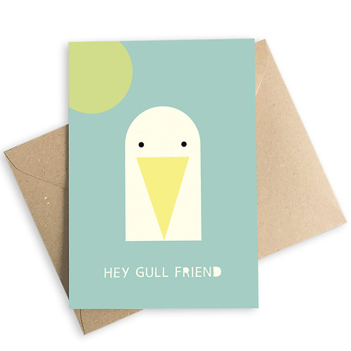 Hey Gull Friend Card