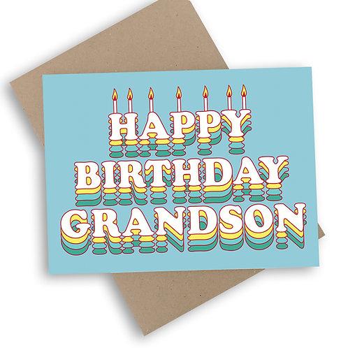 Happy Birthday Grandson Card