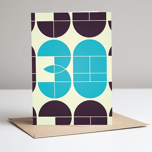 Mid Century Number 30 Card