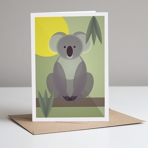 Mid Century Koala Greetings Card
