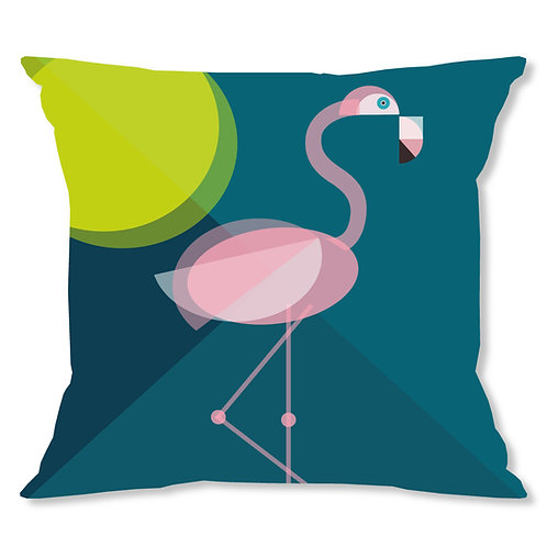 Mid Century Flamingo Cushion