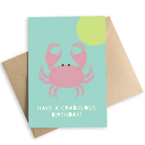 Have A Crabulous Birthday Card