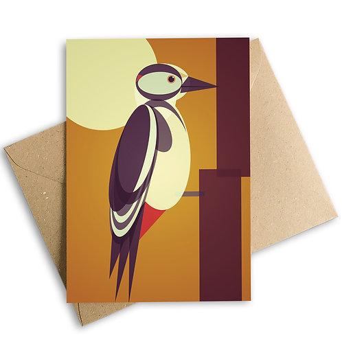Woodpecker Greetings Card
