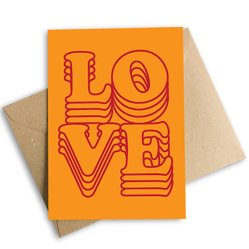 Layers Of Love Valentine's Card