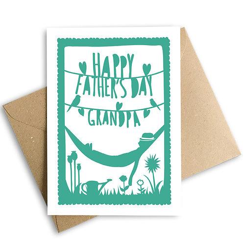 Happy Father's Day Grandpa Hammock Card