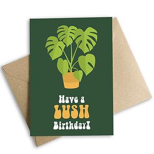 Have a Lush Birthday Plant Card