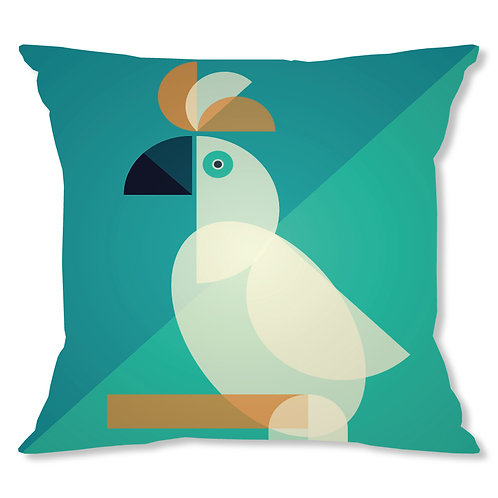 Mid Century Cockatoo Cushion Cover