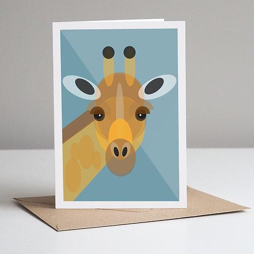 Mid Century Giraffe Card