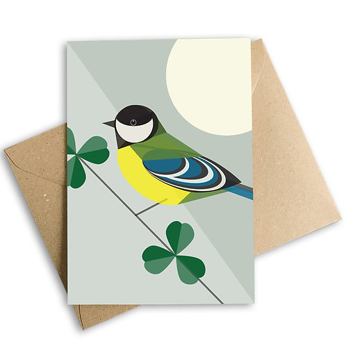 Great Tit Greetings Card