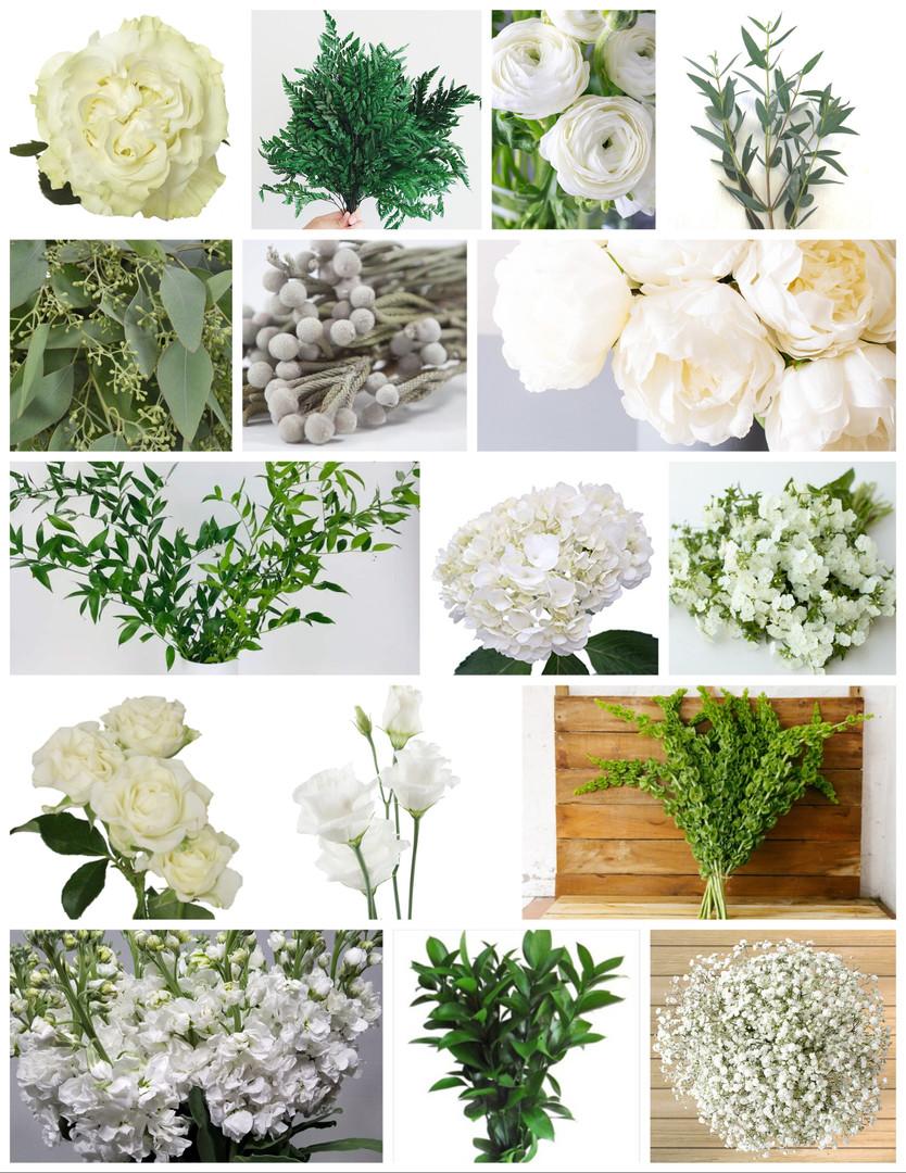White and Grey Wedding Flowers Mood Board by Jori Krenzel | Floral Designer