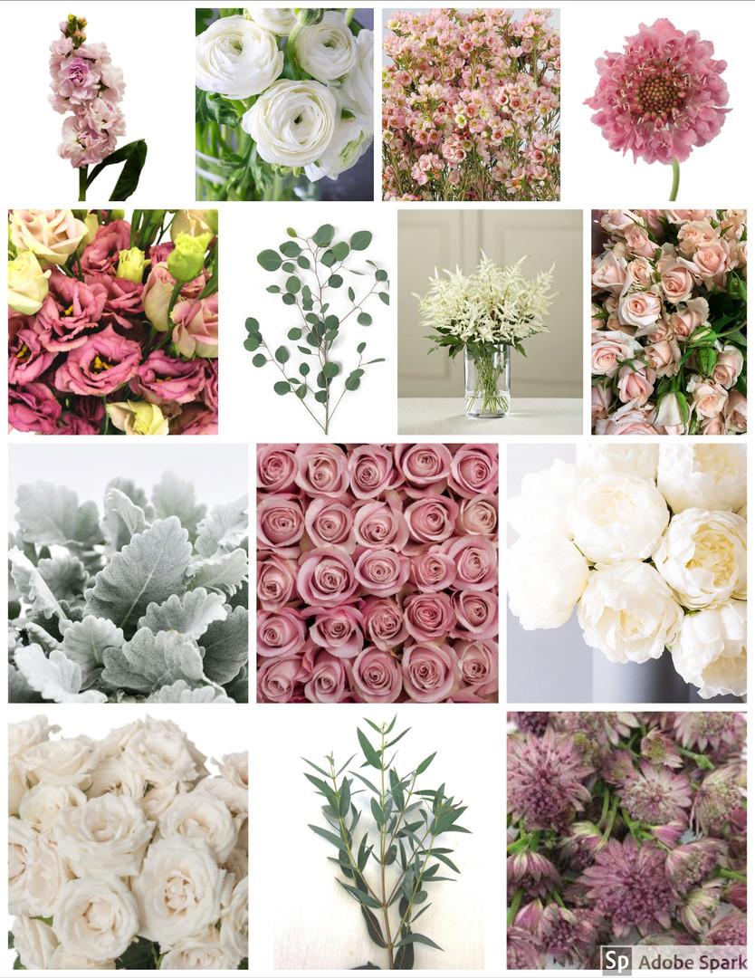 Mauve and Cream Wedding Flowers Mood Board by Jori Krenzel | Floral Designer