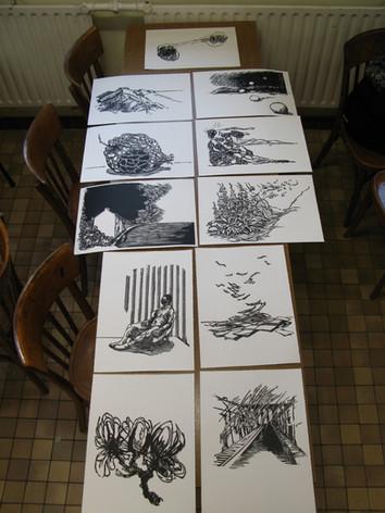 """Palimseste"" series of 11 prints"