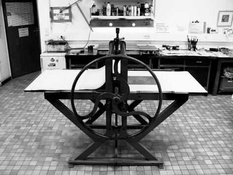 Empreinte atelier de gravure The big press