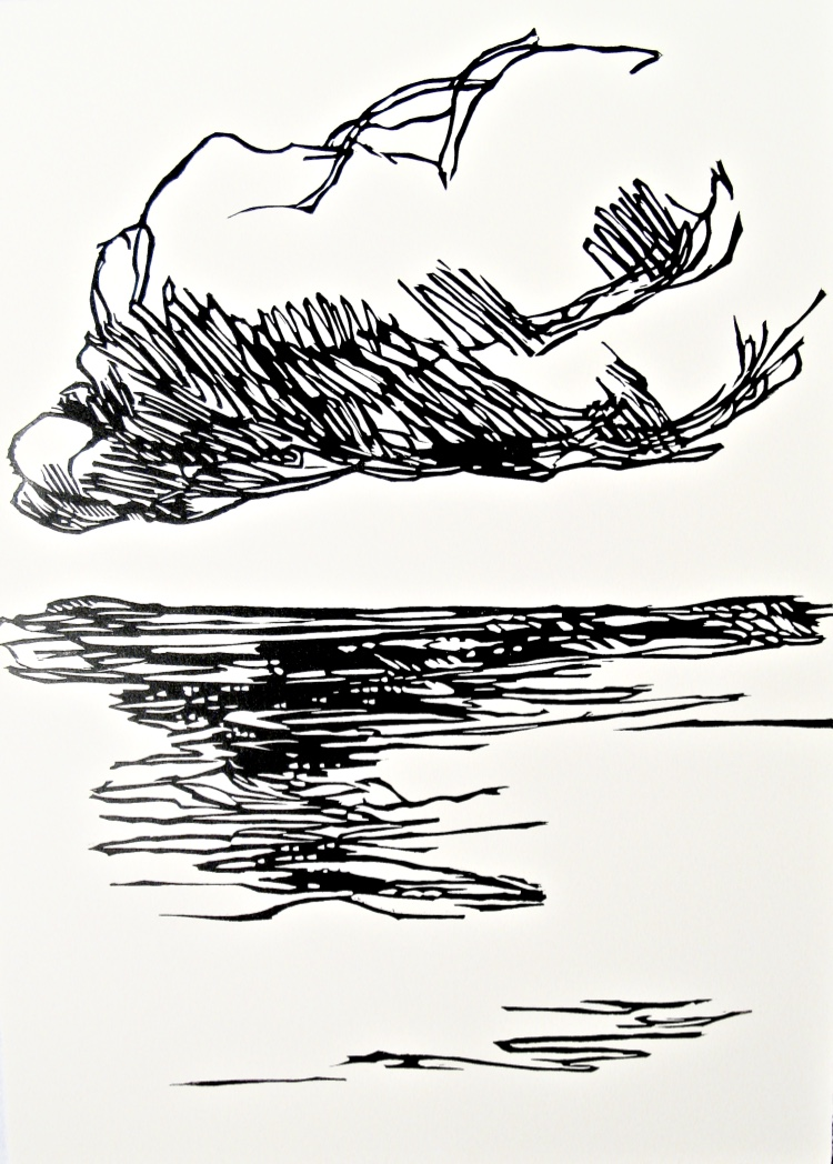 Clouds III, woodcut