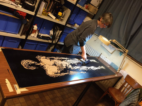 """Inking of """"Blue Print : Canvas"""""""
