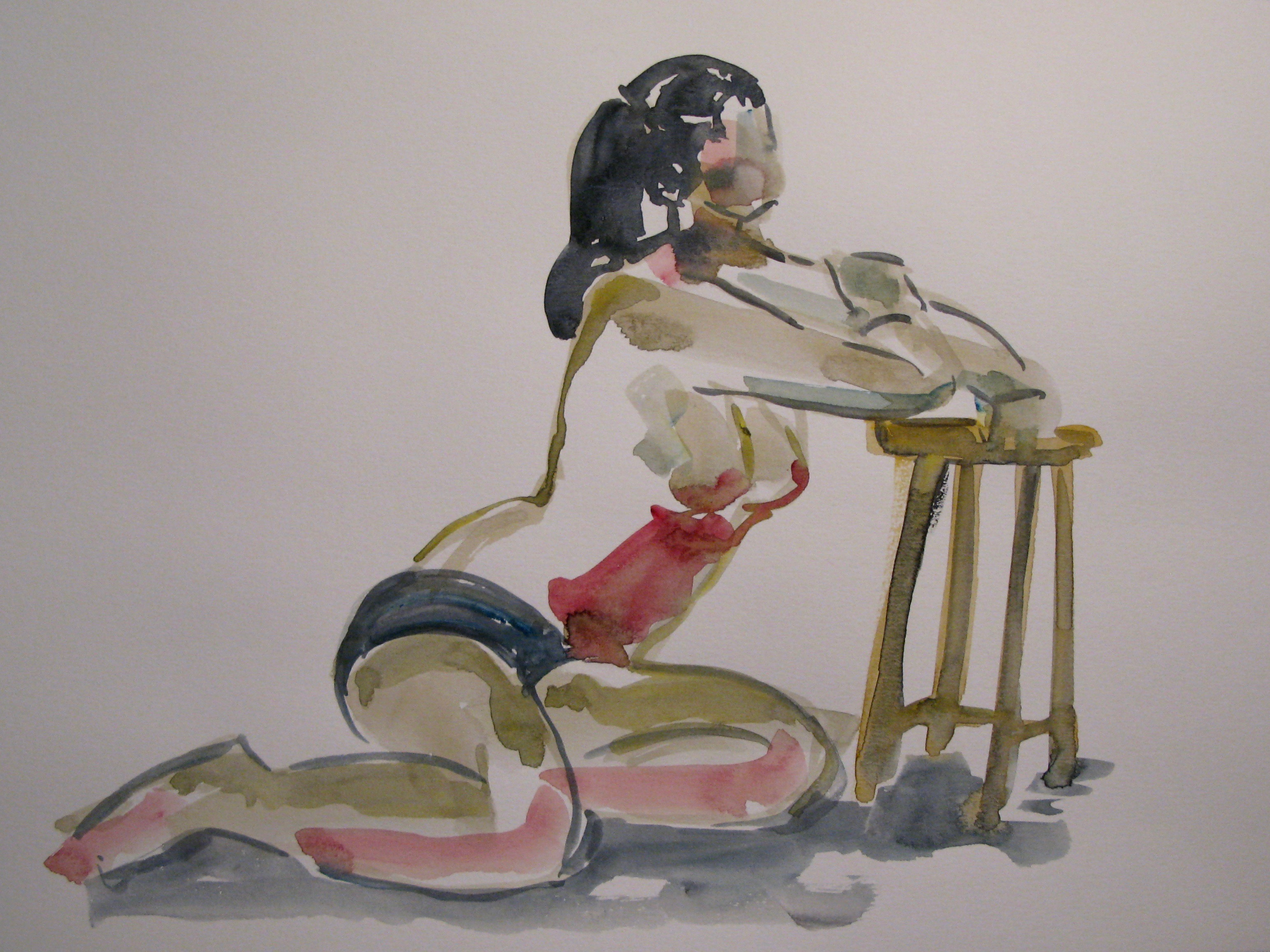 aquarelle life drawing