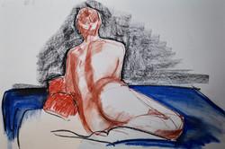 Woman on mattress