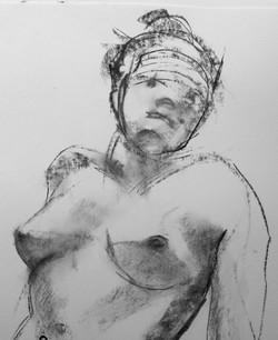 Woman, reclining (detail)