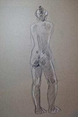 Standing woman,