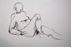 Man, reclining