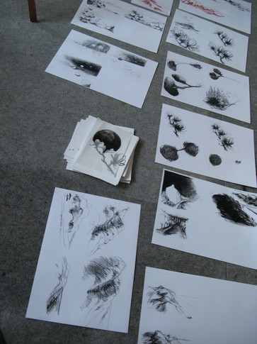 """Research drawings for """"Palimpseste"""""""
