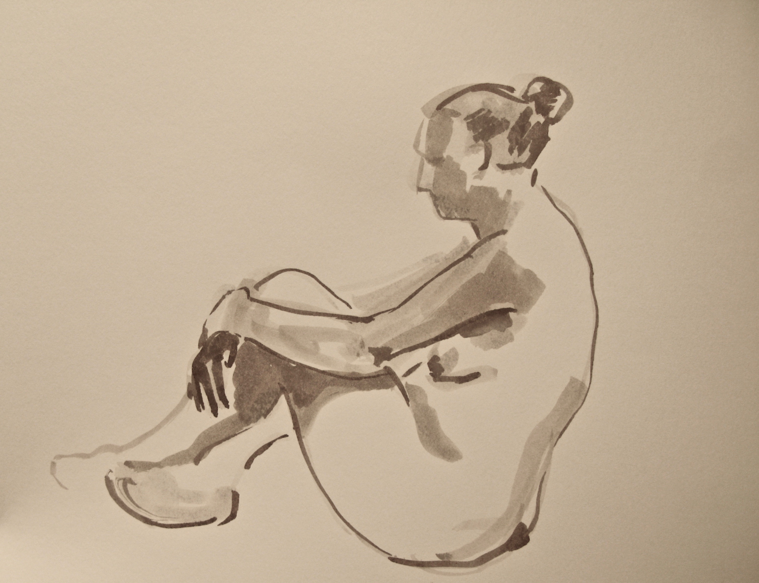 Sitting figure with crossed legs