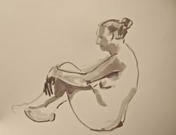 Sitting figure with crossed legs