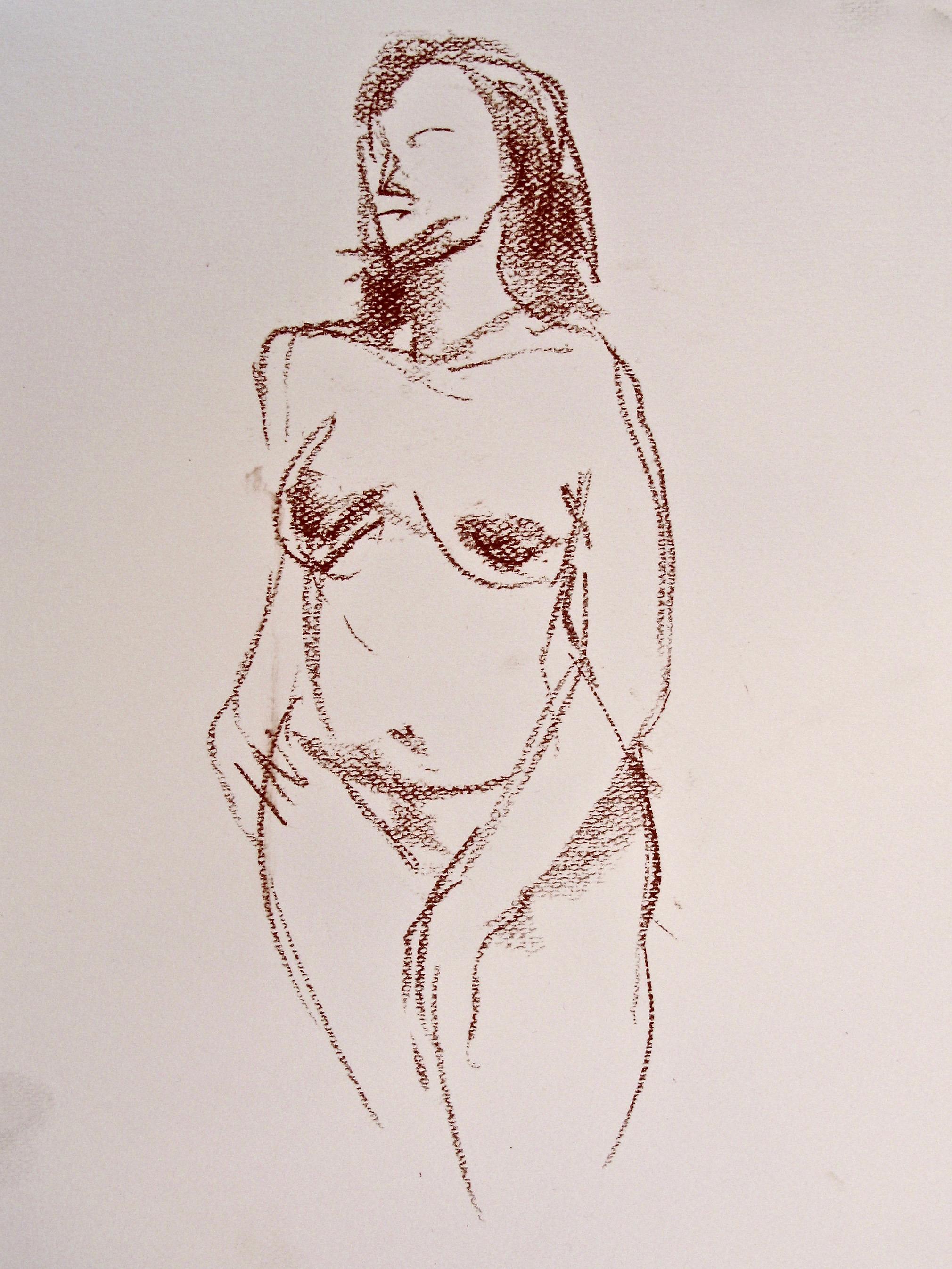 Quick gesture sketch, standing