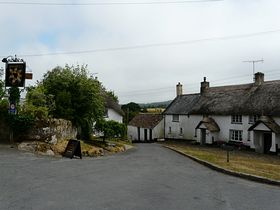 North Bovey village