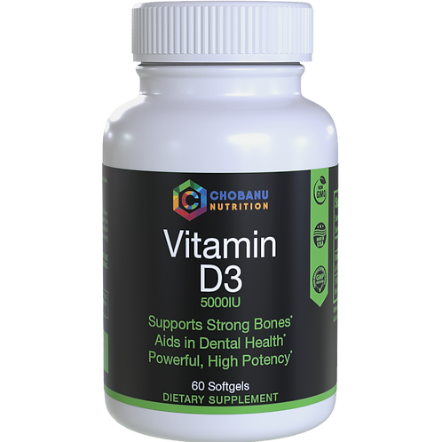 Vitamin D3 5,000 IU for Healthy Muscle Function, Cardiovascular.