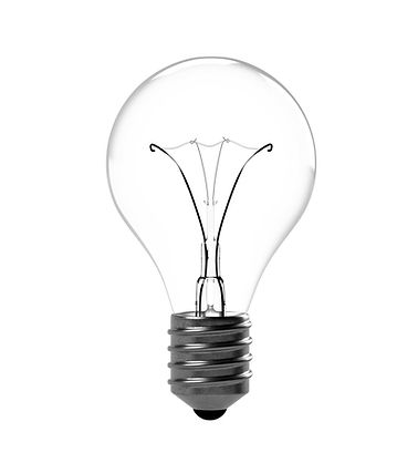 A single light bulb representing creativity