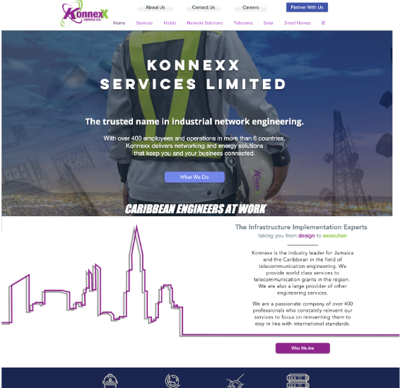 Screenshot of the website Adtelligent did for Konnexx