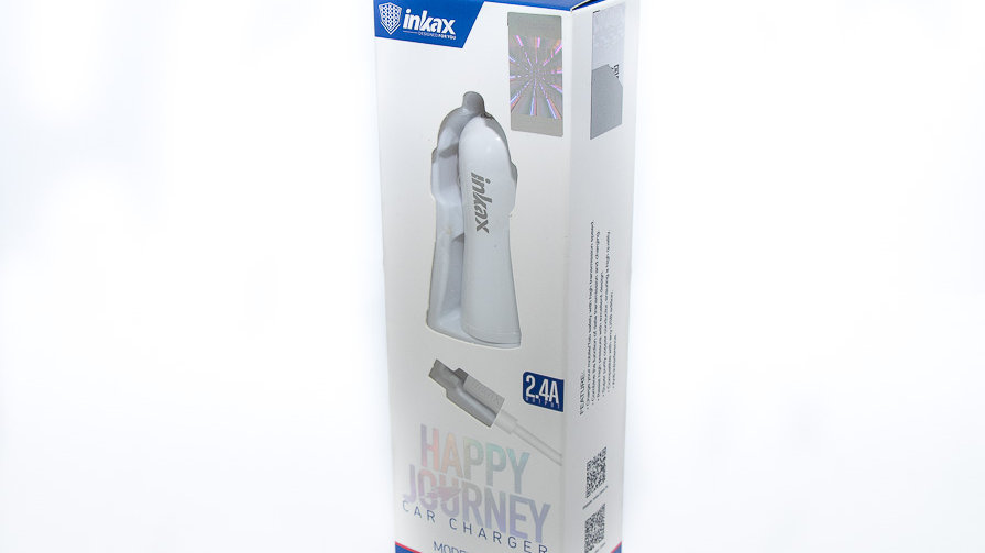 Inkax Happy Journey 2.4A Micro USB Dual Car Charger (CD-29)