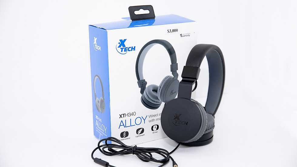 Xtech Alloy Wired Headphones w/ Mic (XTH340)