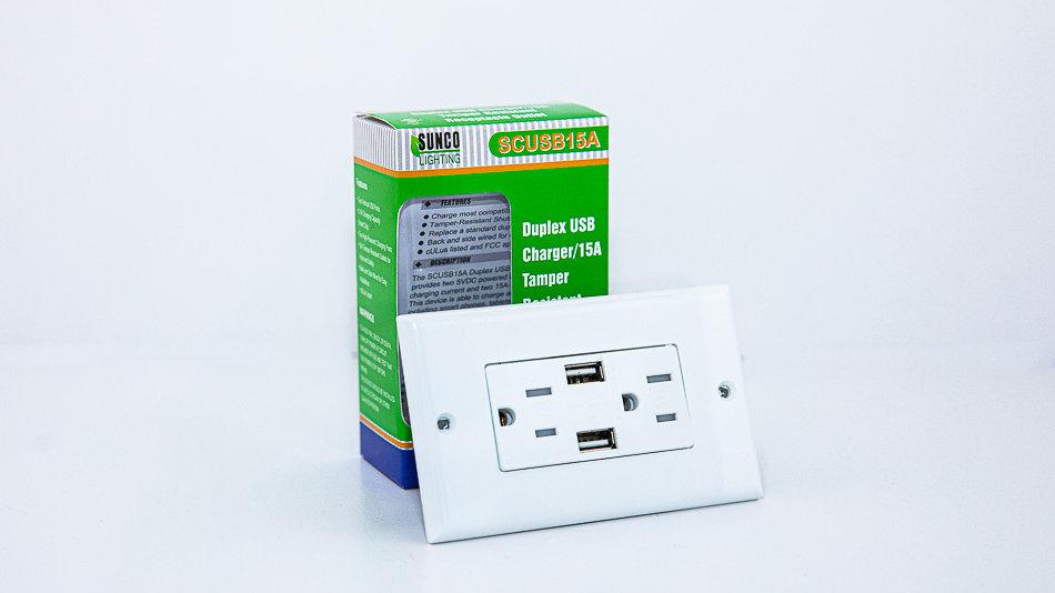 Sunco Lighting USB Wall Plate