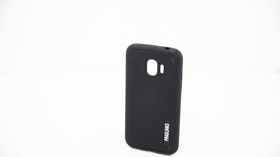 Pinglinks Samsung Galaxy J2 Pro Dual Layer Case Black