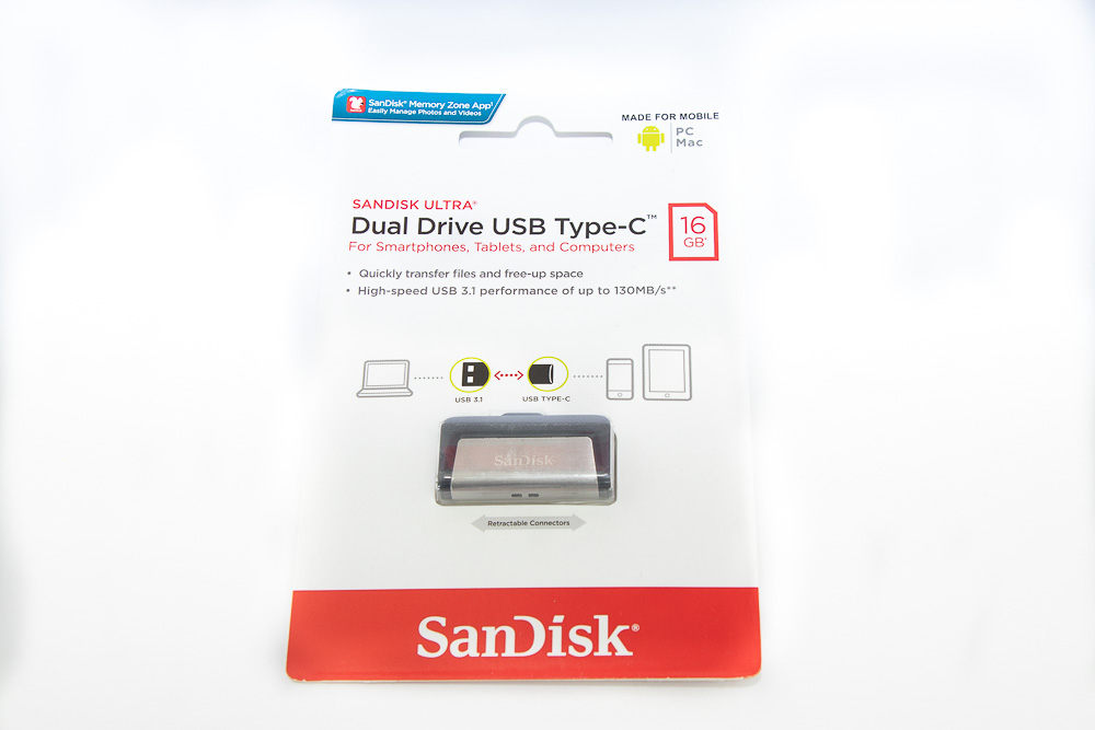 SanDisk USB Flash Drive Type C Connector 16GB