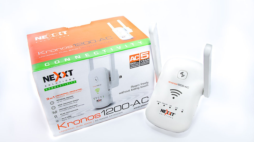 Nexxt Kronos 1200-AC 3-in-1 Wi-Fi Range Extender/Router/Access Point